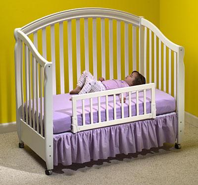 Convertible Crib Rail White Babysecure Inc