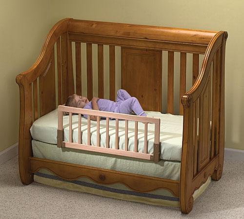 Convertible Crib Rail - wood