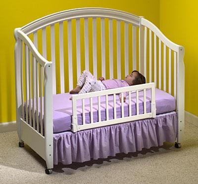 Convertible Crib Rail - white
