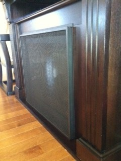 Secure Flat Fireplace Screen